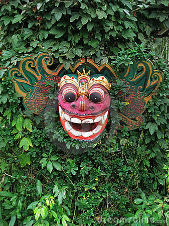 Bali: traditional Barong wooden mask