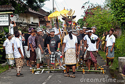 Bali: traditional cremation ceremony Editorial Image