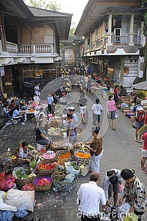 Bali Ubud Market Editorial Image