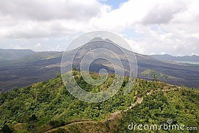 Bali volcanic landscape