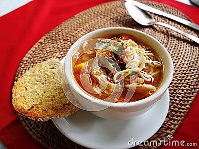 Balinese dish chicken noodles