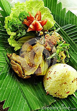 Balinese ethnic duck dish