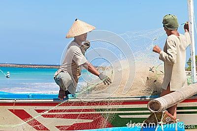 Balinese fishermen Editorial Photography