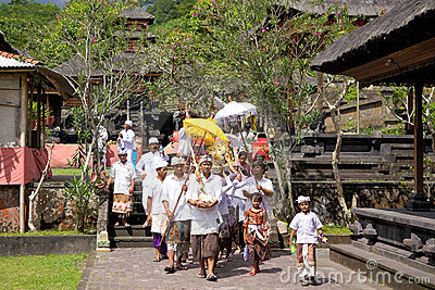 Balinese Funeral Ceremony Editorial Photo