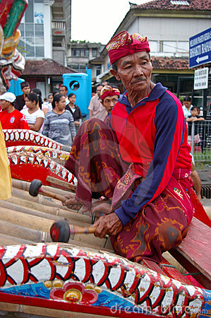 Balinese Gamelan player Editorial Image