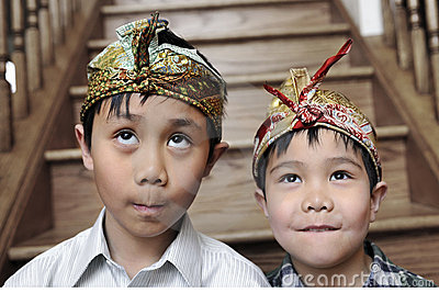 Balinese Headdresses Royalty Free Stock Photos - Image: 14095648