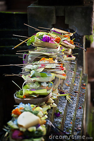 Free Balinese Hindu Offerings. Stock Image - 31970331