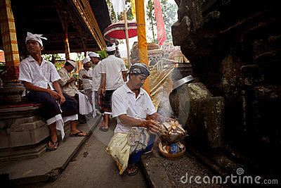 Balinese New year -Day of Silence Editorial Photography