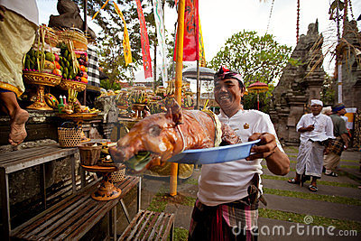 Balinese New year -Day of Silence Editorial Photo
