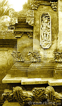 Balinese stone carving details