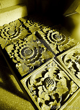 Balinese stone craft details