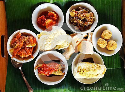 Balinese taster dishes, assorted cuisine