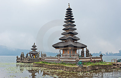 Balinese temple in lake