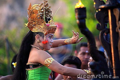 Balinese Traditional Dance Editorial Stock Image