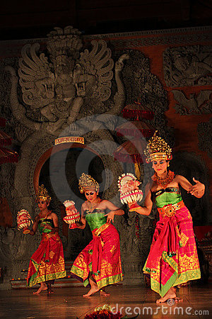 Balinese traditional dance Editorial Stock Photo