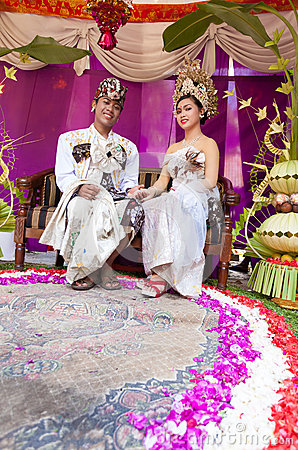Balinese wedding Editorial Stock Photo