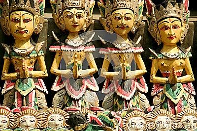 Balinese woodcarving puppets ubud bali