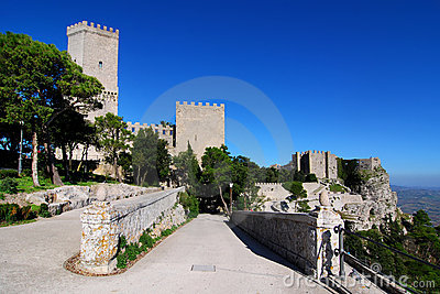 Balio towers and Norman castle in Erice, Sicily