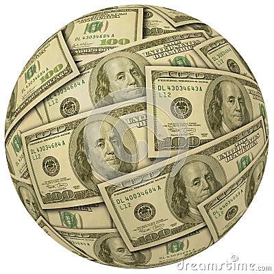 Ball of $100 bills