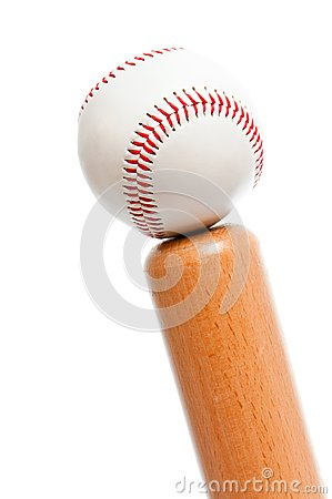 Ball and baseball bat