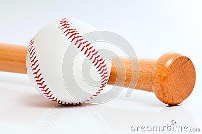 Ball and baseball bat
