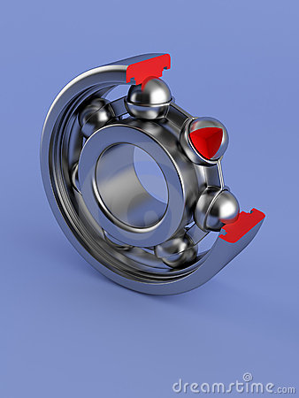 Ball bearing cut