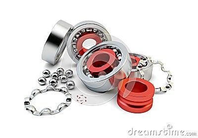 Ball bearing with metallic bearing balls