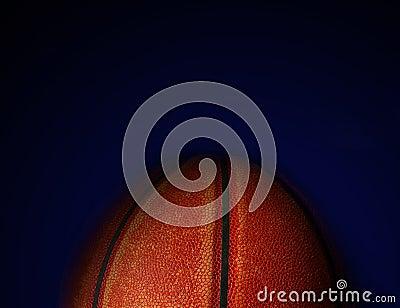 Ball on blue