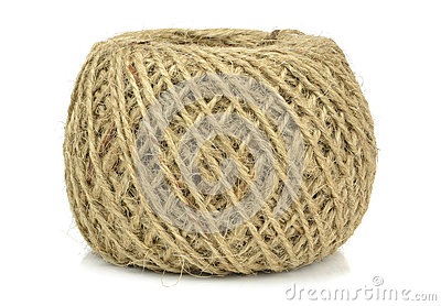 A ball of brown string