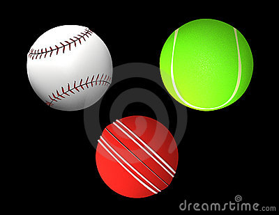 Ball collection - tennis-ball, cricket, baseball