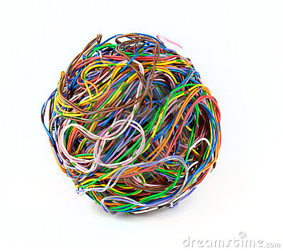 Ball of colored wire