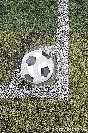 Ball on corner line