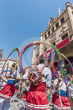 Ball de Cercolets at Festa Major in Sitges, Spain Editorial Stock Photo