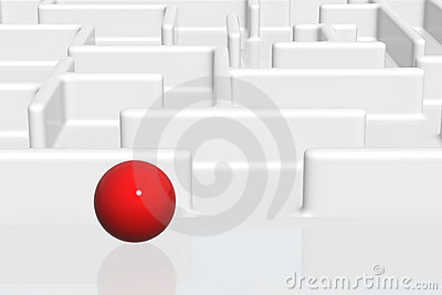 Ball Entering A Maze