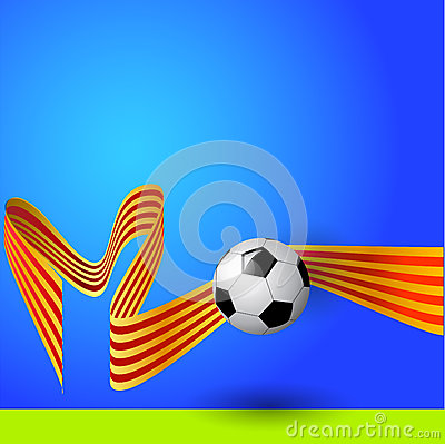 Ball with flag of catalonia