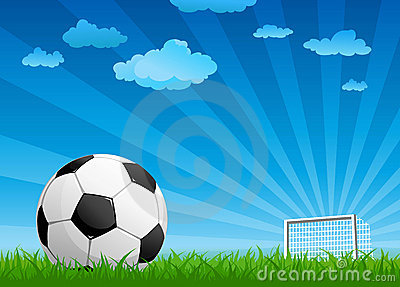 Ball on a football pitch