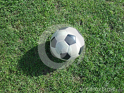 Ball in grass
