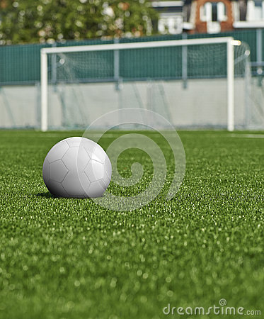 Ball on the green field