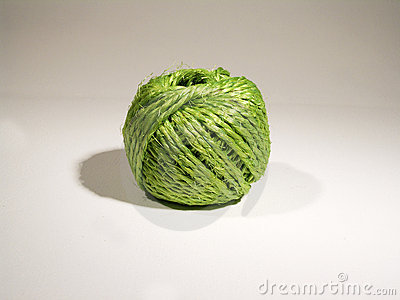 Ball of green string Stock Photo