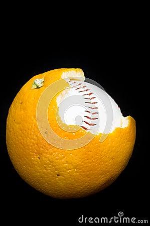 Ball inside of orange