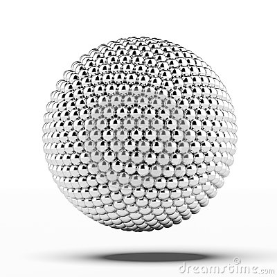 Ball of metal spheres