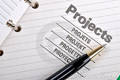 Ball pen and project book