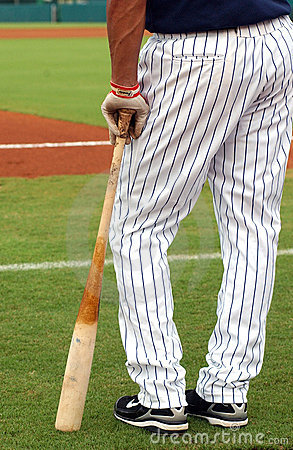 Ball Player & Bat