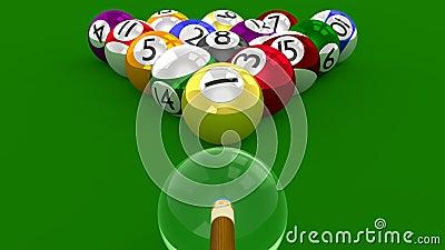 8 Ball Pool  3D Game - All Ball Randomly Racked Ready for Break Shot