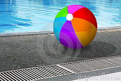 Ball at poolside