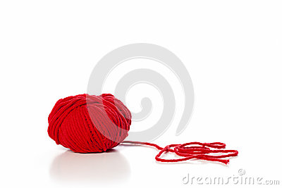 Ball of red wool