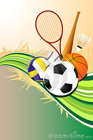 Ball sports background
