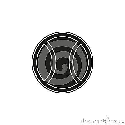 Free Ball Tennis White Sport Design Icon Vector Illustration - Play Game Sport Stock Photos - 138872783