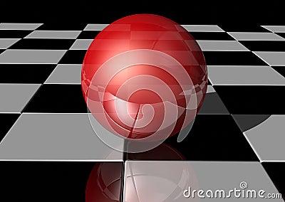 Ball on tiles