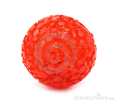 Ball toy red for pets